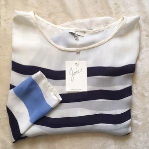 NWT Joie Striped Silk Top