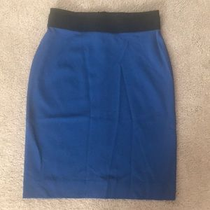 BCBG blue pencil skirt.