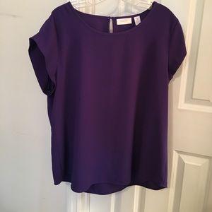 Chico's Purple Blouse 2 M/L
