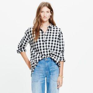 Madewell Flannel Oversized Boyshirt -Buffalo Check