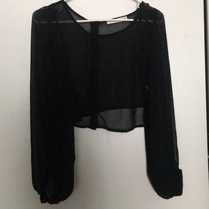 Mink pink cropped blouse