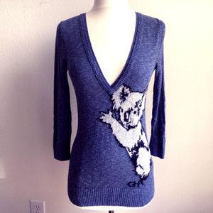 GILLY HICKS Sydney Koala Sweater Size XS Blue