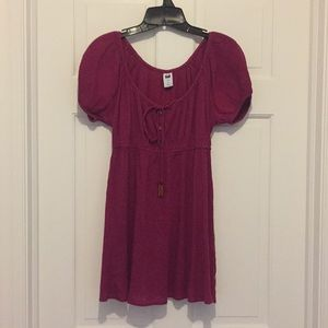 GAP Hot pink empire waist blouse