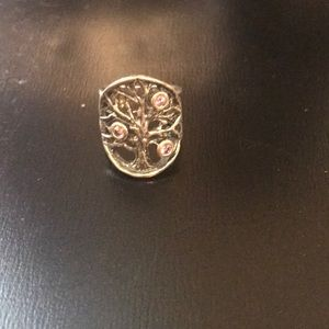 Jewelry - Sterling Silver tree ring with purple stones