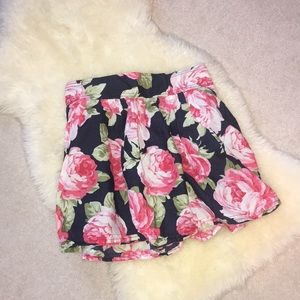 Abercrombie & Fitch Floral Print Skirt