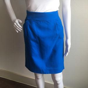 "J. CREW ""The Pencil Skirt"" Blue Sz 4"