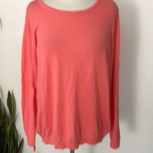 Laura Scott Knit plus sweater orange long sleeves