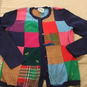 Lilly Pulitzer patchwork sweater L