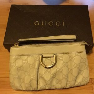 Beautiful Gucci Wristlet Ivory color