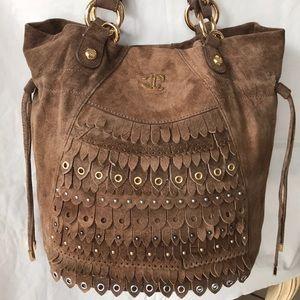 just CAVALLI Authentic Suede Handbag NWOT