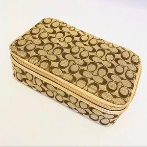 Coach travel jewelry case