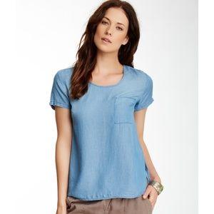 Cloth & Stone Chambray cotton Tshirt