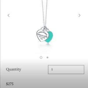 Return To Tiffany Double Heart Pendant Necklace
