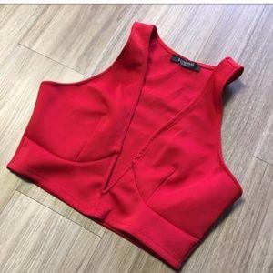 Solemio Red Crop Top