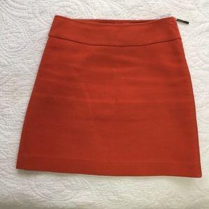 Ann Taylor tweed orange mini skirt