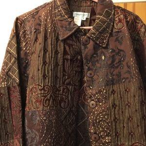 Coldwater Creek LG brown blazer