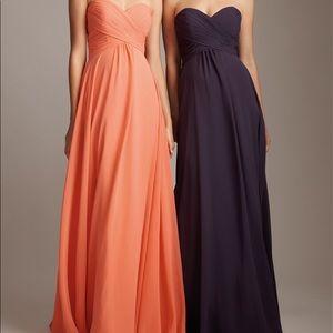 [Allure Bridal Bridesmaids] Purple Chiffon Dress