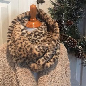 Super soft and cozy animal print infinity scarf