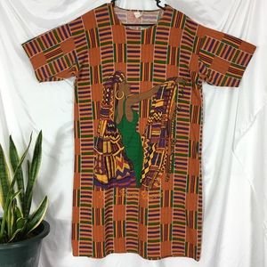 Vintage African Style Dress