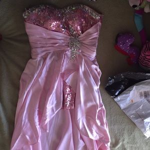 Pink Prom dress / Special Occasion Dress