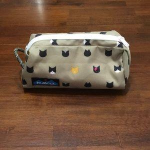 KAVU Cosmetics Bag Pencil Case with Cat Faces