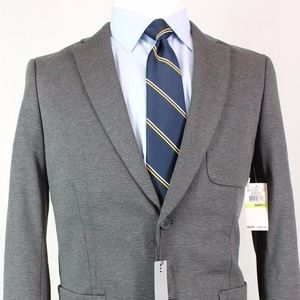 38R Perry Ellis Extra Slim-Fit Gray Sport Coat