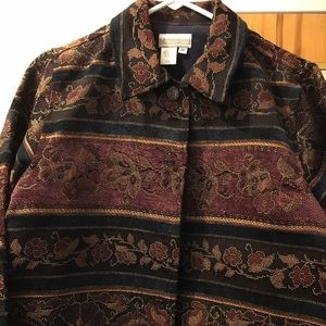 Coldwater Creek Tapestry blazer med