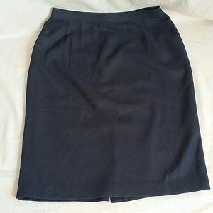 Pencil Skirts Dark Blue 12 Wool Blend