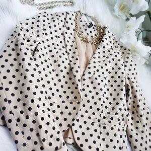 H&M Polka Dots One Button Blazer