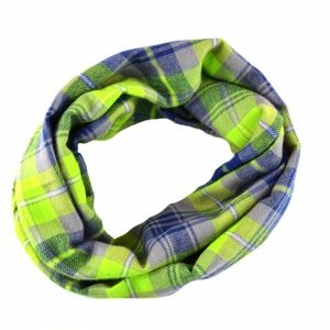 $28 Seahawks Blue Lime Plaid Infinity Women Scarf