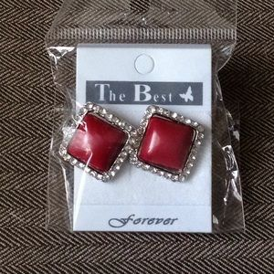 Red Square Studs
