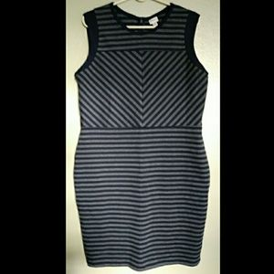 NWOT MERONA STRIPED BODYCON DRESS