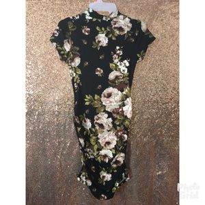 Body-con floral dress