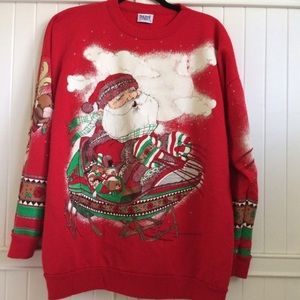 Sweaters - Vintage Plus Size Ugly Christmas Sweater Size 20
