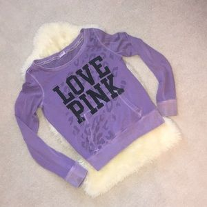VS PINK Purple Cheetah Sweatshirt