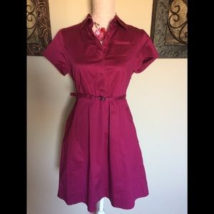 Banana Republic Belted Dress Size 8 Petite
