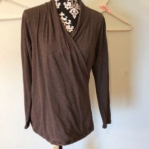 Cabi Style #106 Brown Faux Crossbody Tee