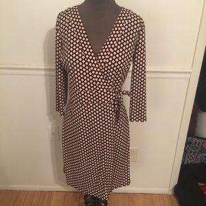 Ann Taylor Printed Wrap Dress