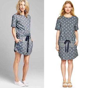Gap paisley drop waist dress SZ XS