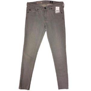 NWT AG Adriano Goldschmied Gray Skinny Jeans