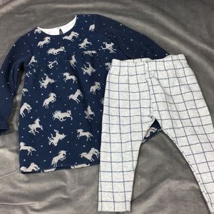 Zara babygirl unicorn outfit