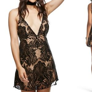 Free people night shimmer mini dress NWT