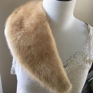 Vintage Mink Fur Collar Coat Accessory