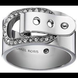 Michael Kors Stainless Steel Buckle Ring