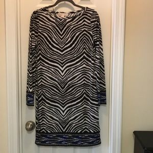 Michael Kors dress, black and white zebra print