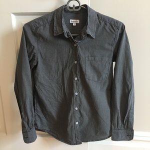 Steven Alan reverse seam shirt, dark blue, sz P