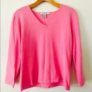Pink CAbi V Neck Sweater