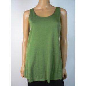 Eileen Fisher Green Cotton Cashmere Blend Tank 💜