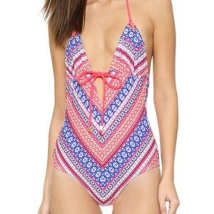 Shoshanna Chevron Tapestry Swimsuit