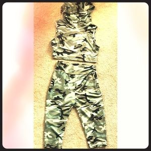 Other - Camo two piece work out set